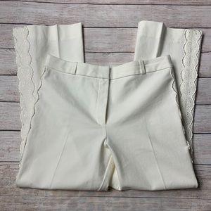 DEREK LAM CROSBY 10 | Embroidered Pants Sz 8